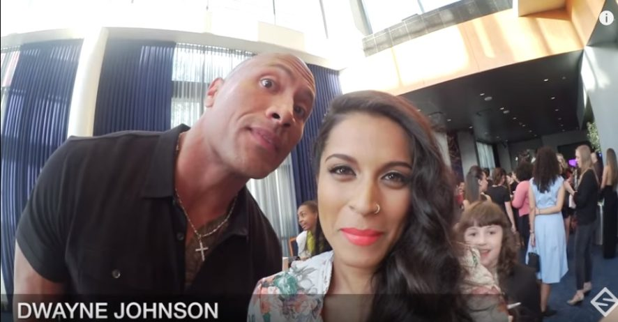 lilly singh motivational story, lilly singh story, lilly meet rock dwane johnson, lilly with rock