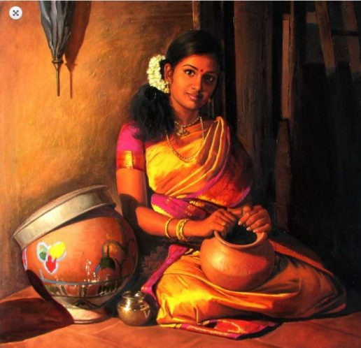 Elayaraja oil painting